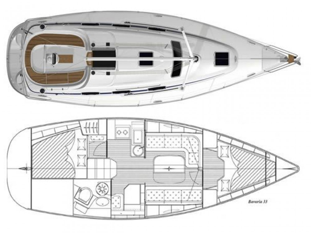 Hire Sailboat with or without skipper Bavaria ACI Marina Split
