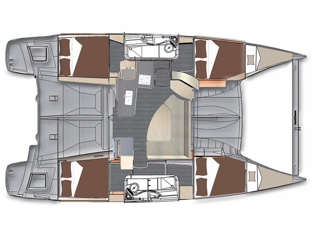 Rental Catamaran in Pula - Fountaine Pajot Lipari 41 (4 dbl, 2sgl)