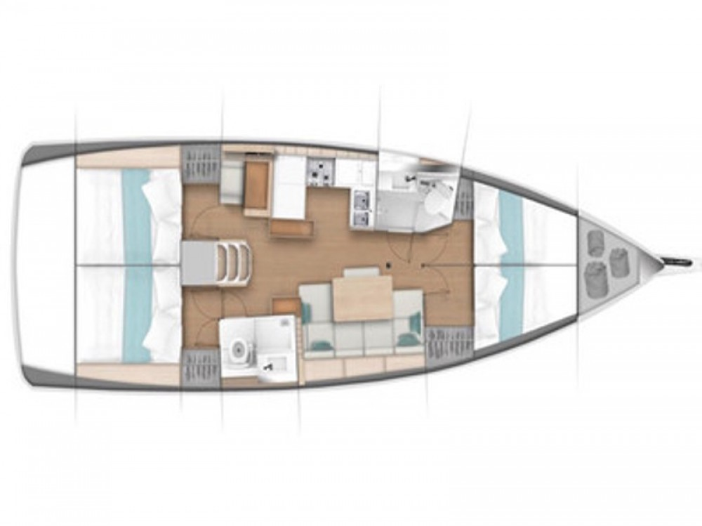 Rent a Jeanneau Sun Odyssey 440 / 4 cabins Marina Kaštela