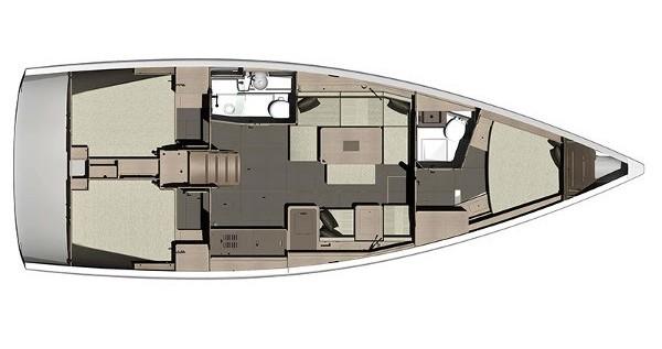 Rental yacht Kaštel Gomilica - Dufour Dufour 410 (3c-2h) on SamBoat