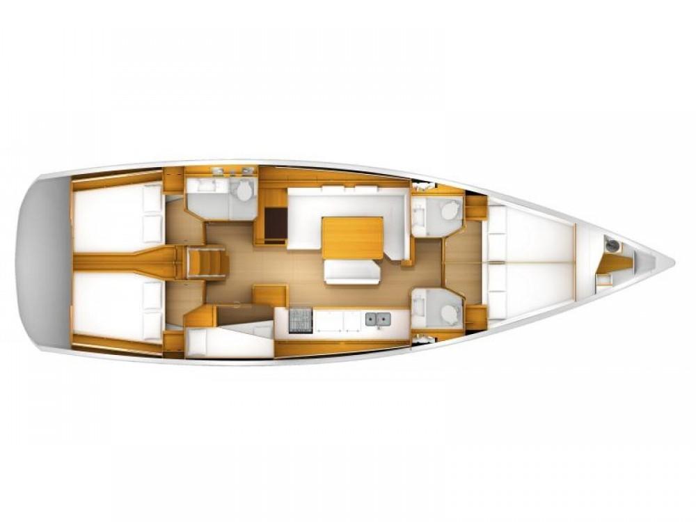 Boat rental Jeanneau Sun Odyssey 519 - 5+1cab. in Marina Kaštela on Samboat