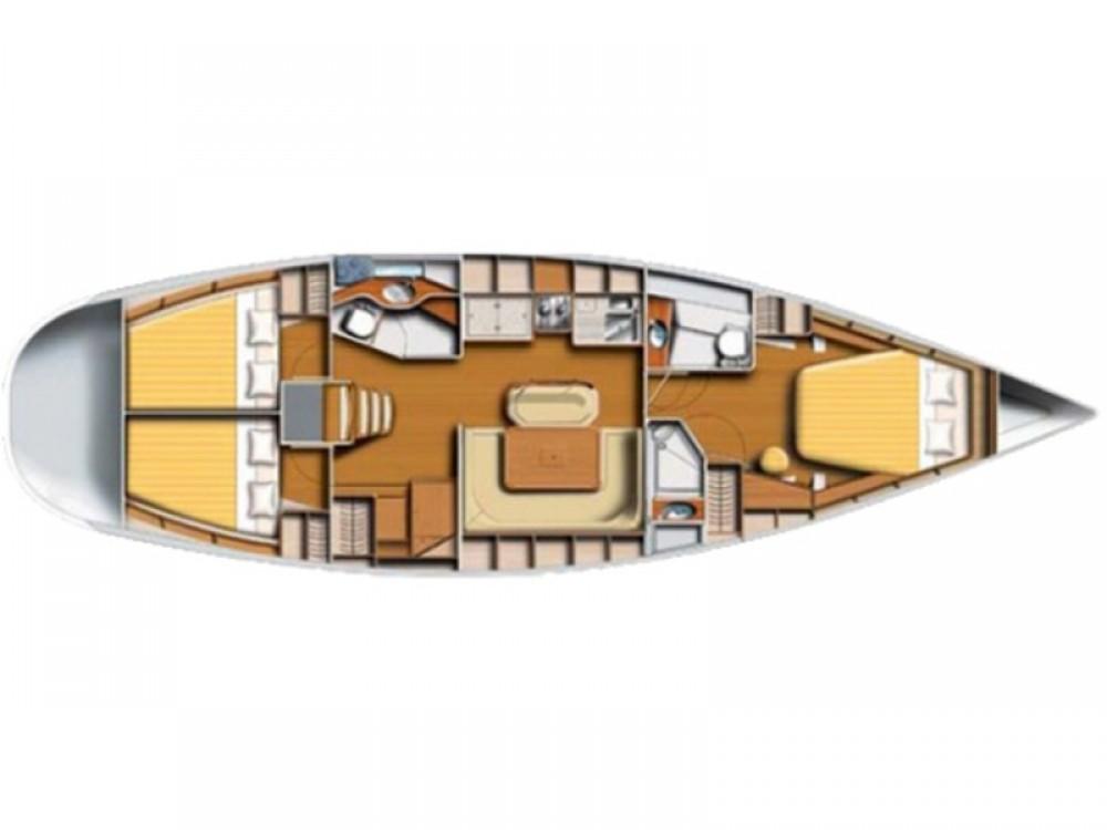 Rental Sailboat in Karaca - Poncin Harmony 47