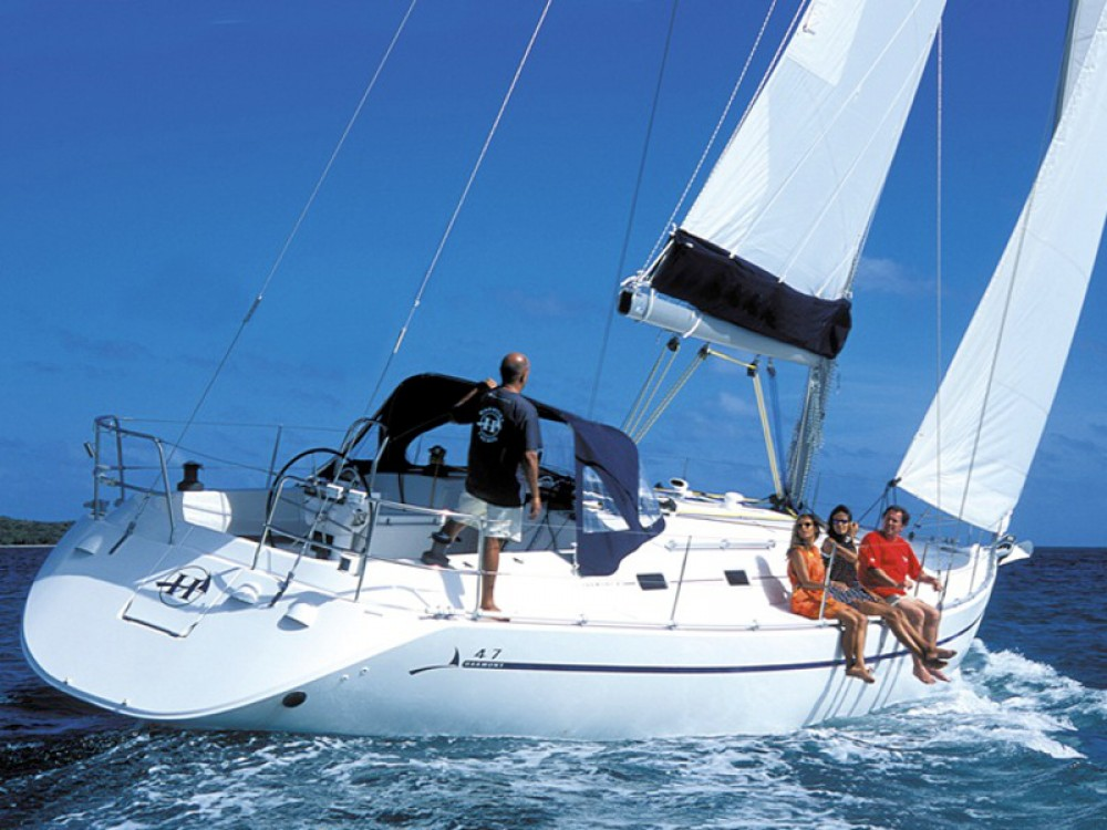 Rental Sailboat in Karaca - Poncin Harmony 47