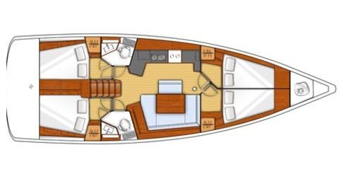 Rental Sailboat in Marina di Portorosa - Bénéteau Oceanis 45