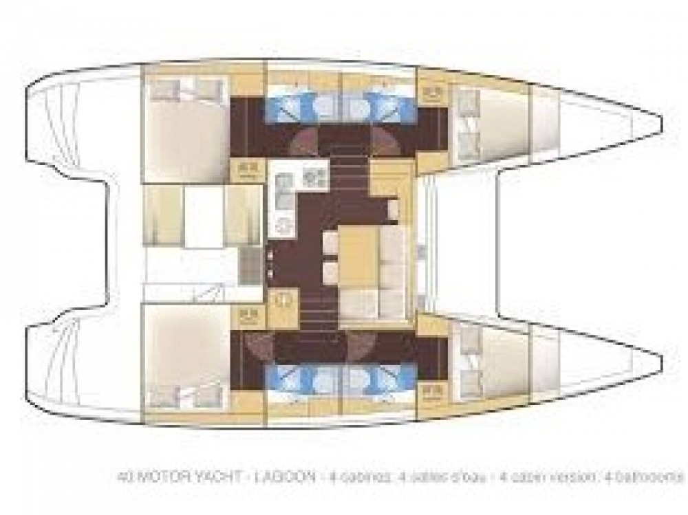 Boat rental Furnari cheap Lagoon 40