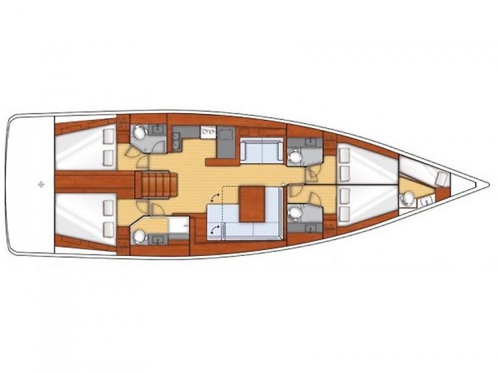 Boat rental Sant Antoni de Portmany cheap Oceanis 50 Gran Family