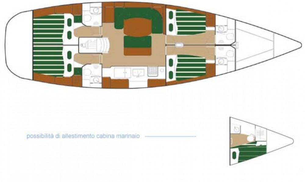 Boat rental Palma cheap Beneteau 50-4