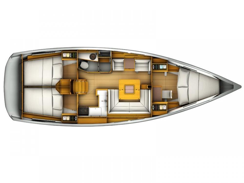 Rental yacht Arona - Jeanneau Sun Odyssey 409 on SamBoat