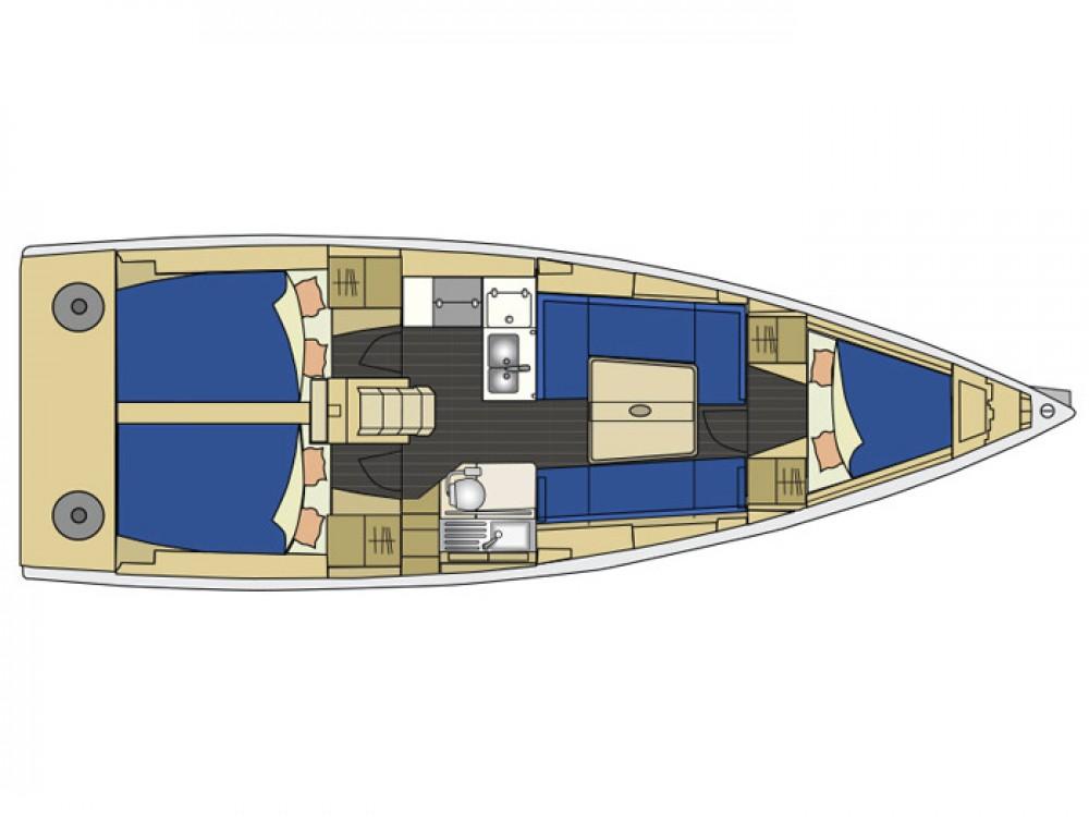 Rental Sailboat Elan with a permit
