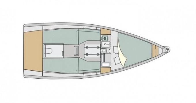 Boat rental Izola cheap Elan E1