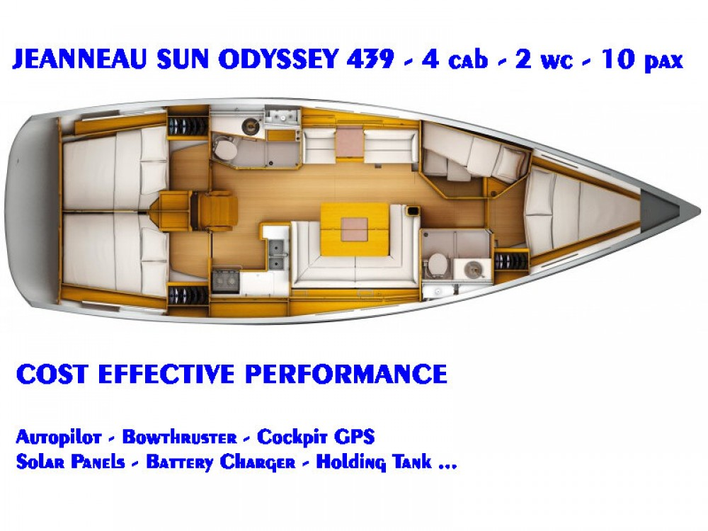 Jeanneau Sun Odyssey 439 between personal and professional Lefkada