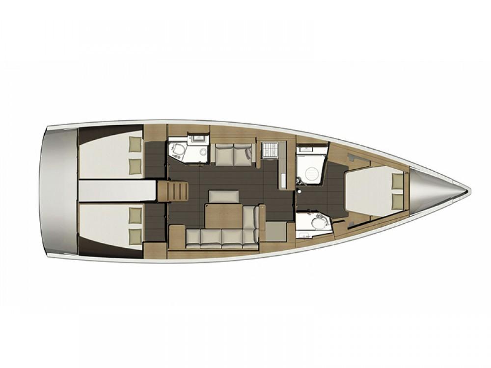 Rental yacht Šibenik - Dufour Dufour 460 GL 3 cab on SamBoat