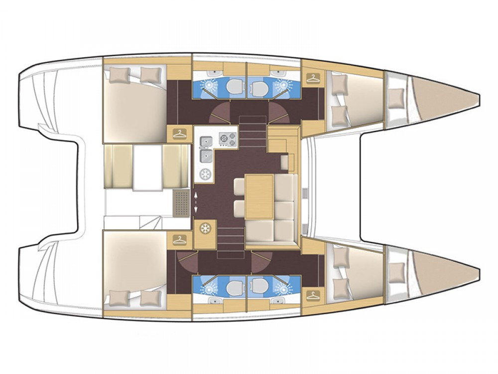 Rental yacht Šibenik - Lagoon Lagoon 39 2016 on SamBoat