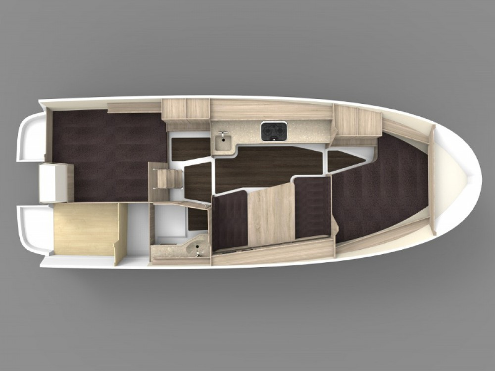 Rental Motor boat in Port PTTK Wilkasy - Northman Nexus Revo 870 Prestige +/2cab