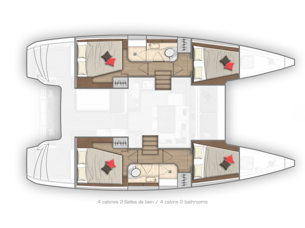 Rental yacht Phuket Province - Lagoon Lagoon 40 - 4Cab/2Hd on SamBoat