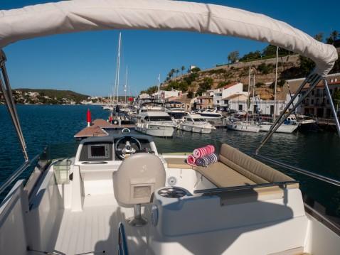 Boat rental Mahón cheap Antares 13.80