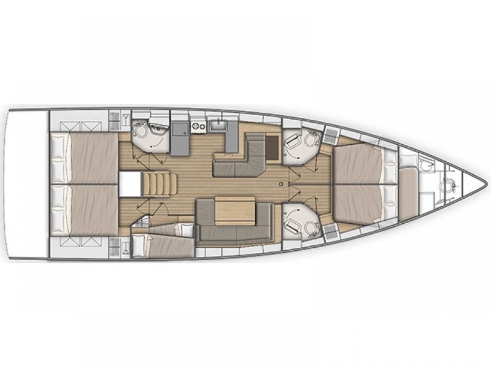 Boat rental Bénéteau Oceanis 51.1 (4 cab, Gen+A/C) in Capo d'Orlando on Samboat