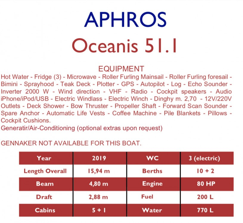 Boat rental Salerno cheap Oceanis 51.1 (Gen+A/C)