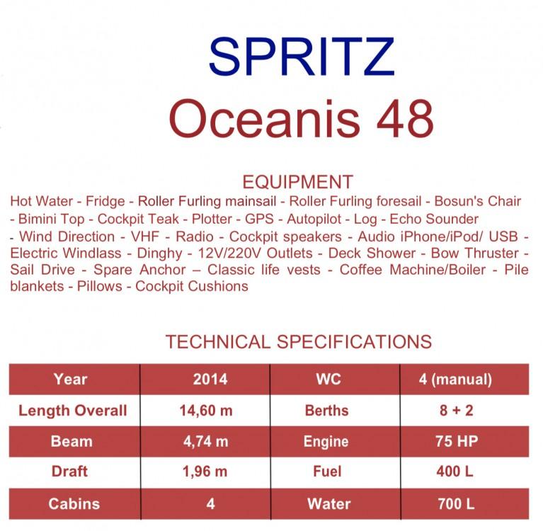 Bénéteau Oceanis 48 (4cab) between personal and professional Capo d'Orlando Marina
