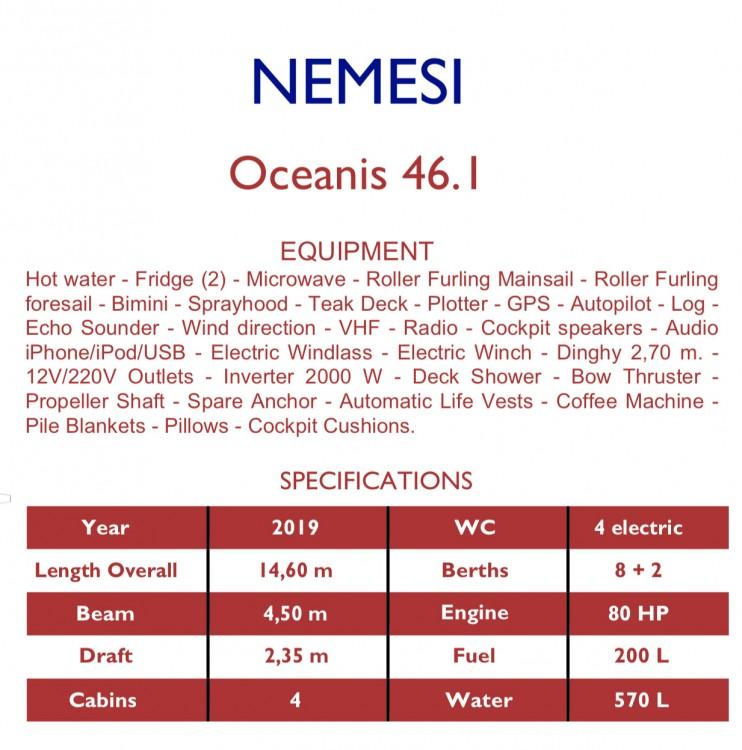 Boat rental Bénéteau Oceanis 46.1 (4 cab) in Salerno on Samboat