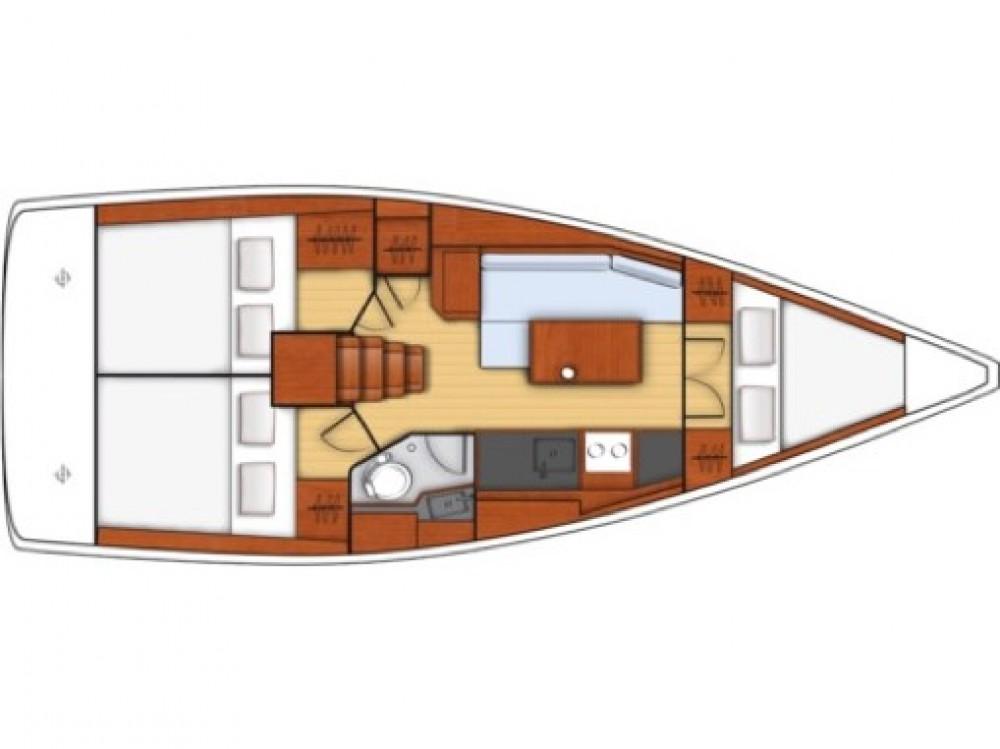 Boat rental Furnari cheap Oceanis 35.1