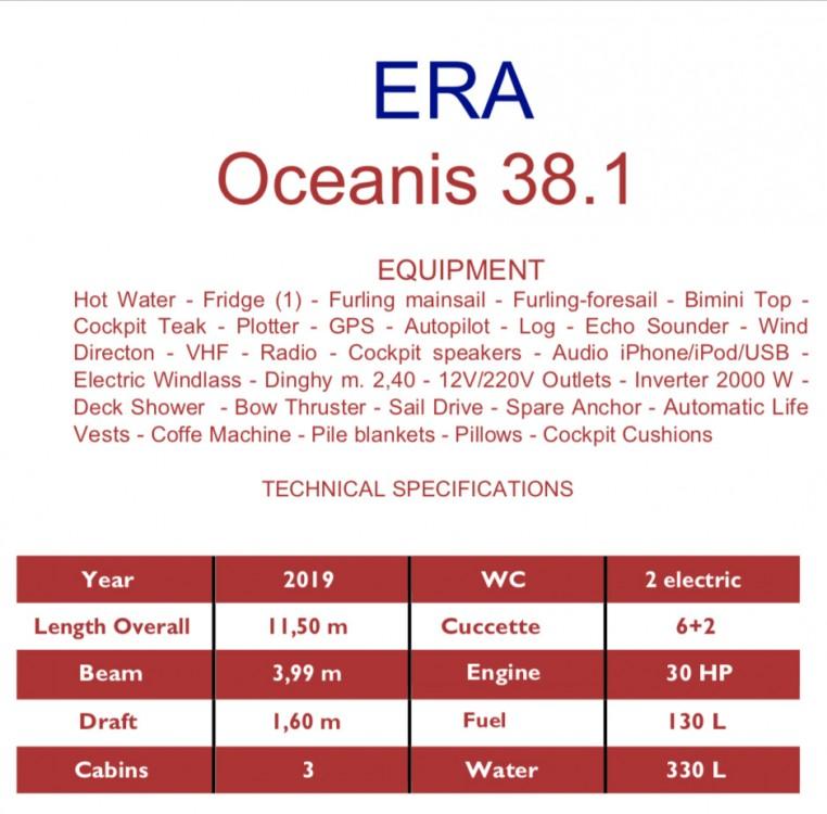 Rent a Bénéteau Oceanis 38.1 Marina d'Arechi