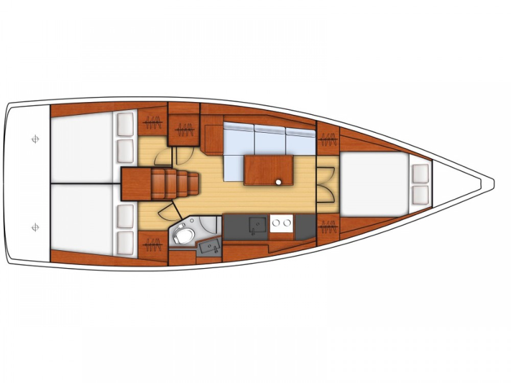Boat rental Salerno cheap Oceanis 38.1
