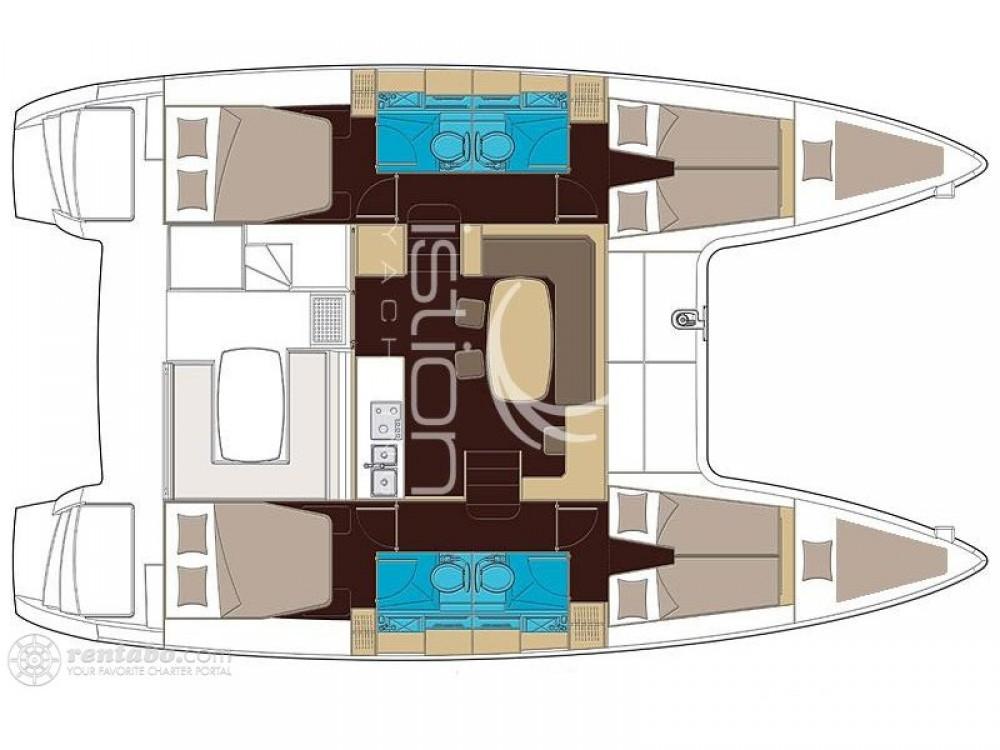Rental yacht Olbia - Lagoon Lagoon 42 (Gen+A/C+WM) on SamBoat