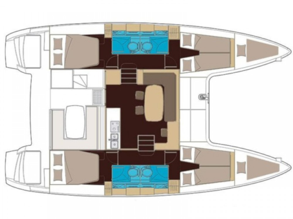 Boat rental Lagoon Lagoon 400 S2 in Capo d'Orlando on Samboat
