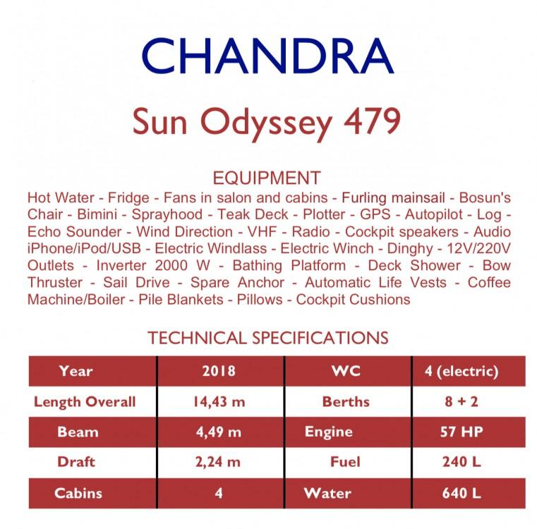 Boat rental Olbia cheap Sun Odyssey 479