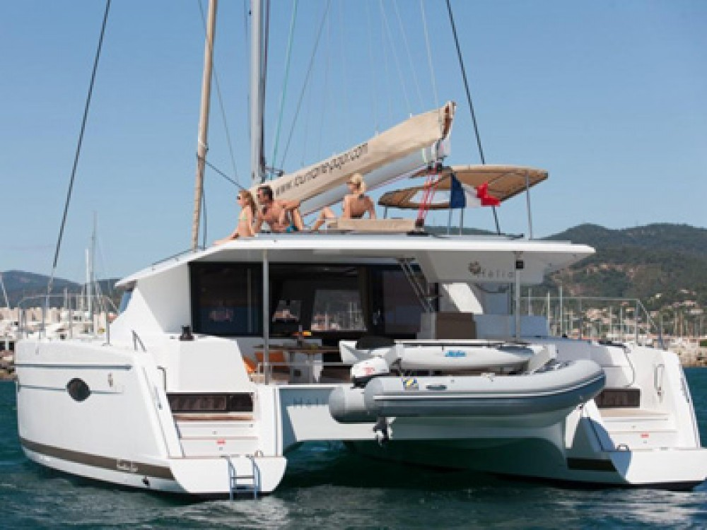 Fountaine Pajot Helia 44 between personal and professional Gassin