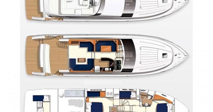 Rental yacht Split - Princess Princess 62 on SamBoat