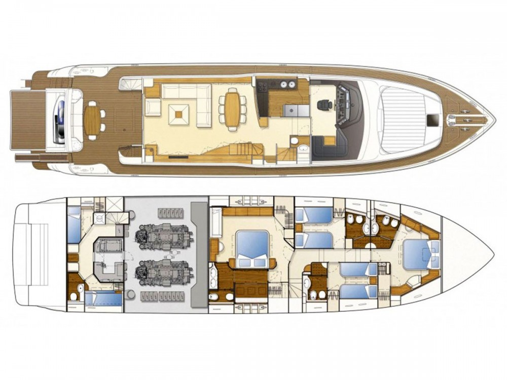 Boat rental Muğla cheap Ferretti 830
