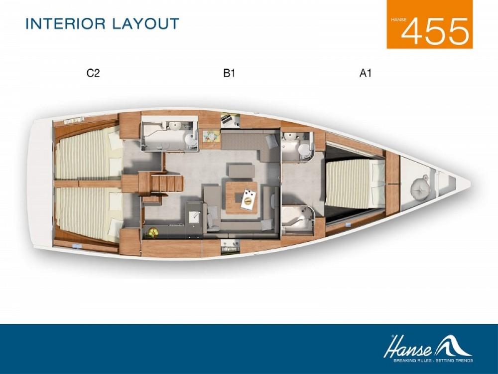 Boat rental Kortgene cheap Hanse 455