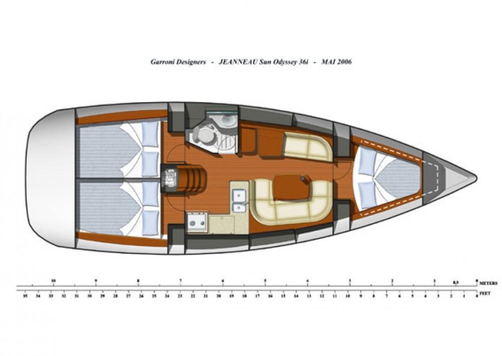 Boat rental Jeanneau Sun Odyssey 36i in Kortgene on Samboat