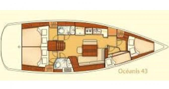 Boat rental Fethiye cheap Beneteau 43