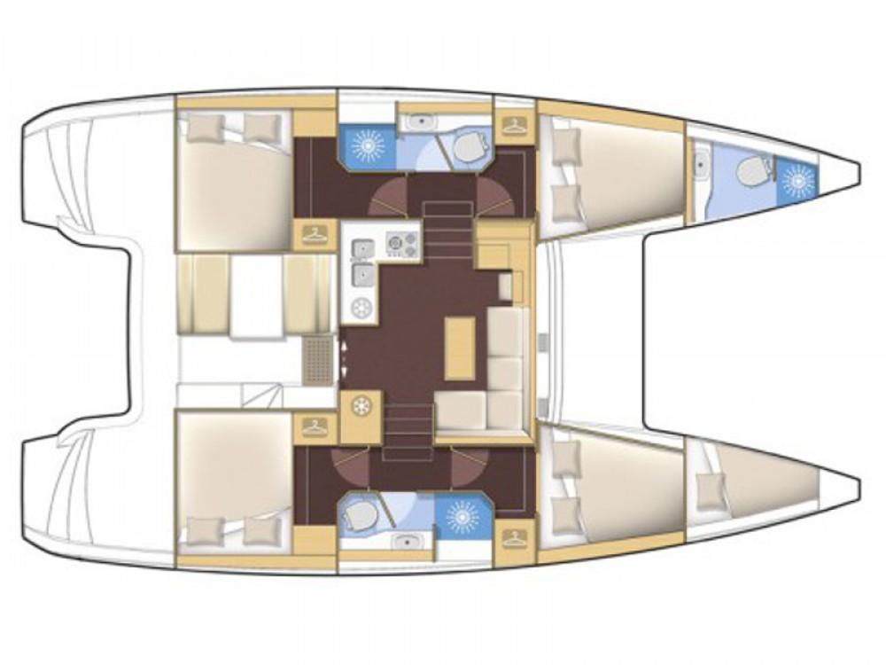 Boat rental Lefkada cheap Lagoon 39