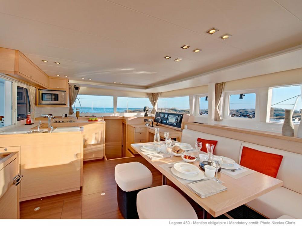 Hire Catamaran with or without skipper Lagoon Capo d'Orlando Marina