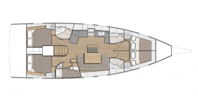 Boat rental Bénéteau Oceanis 46.1 ( A/C/ INVENTER ) in Alimos on Samboat
