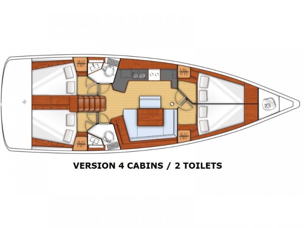 Rental yacht  - Bénéteau Oceanis 45 on SamBoat