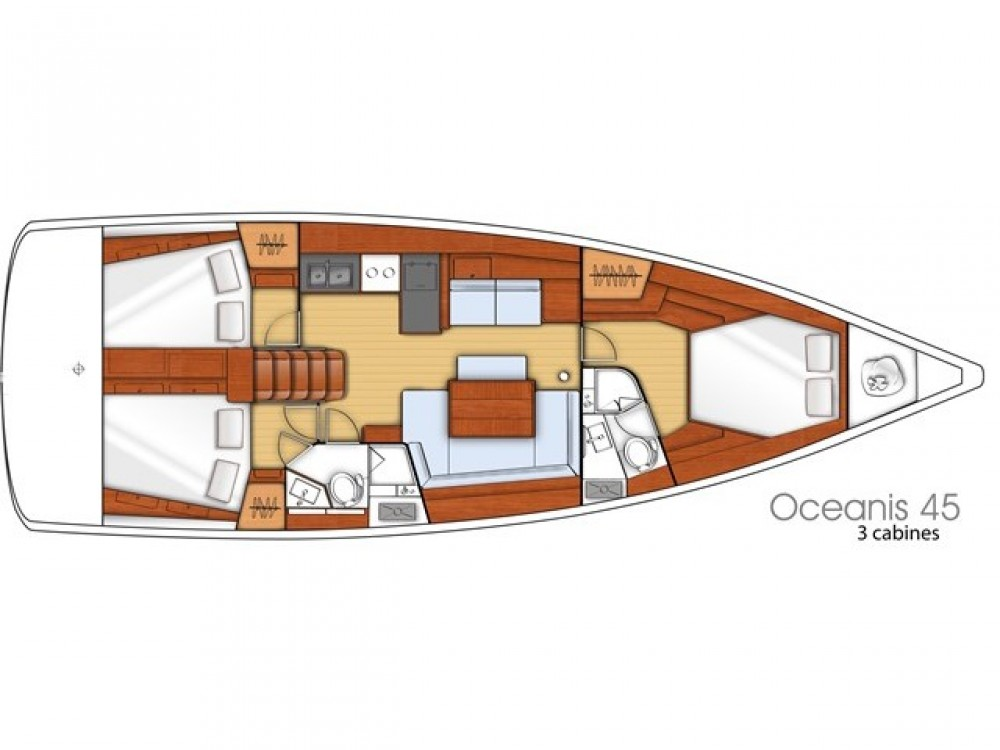 Bénéteau Oceanis 45 between personal and professional Myconos
