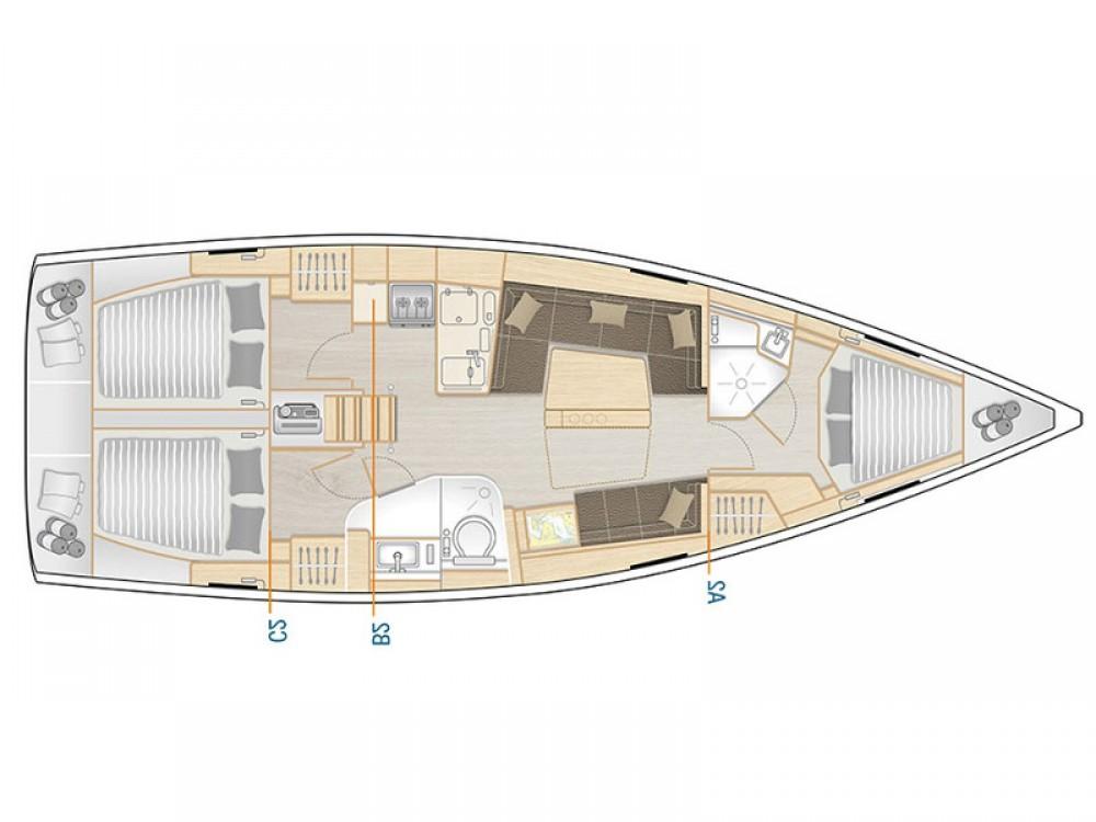 Rental Sailboat in Muğla - Hanse Hanse 418