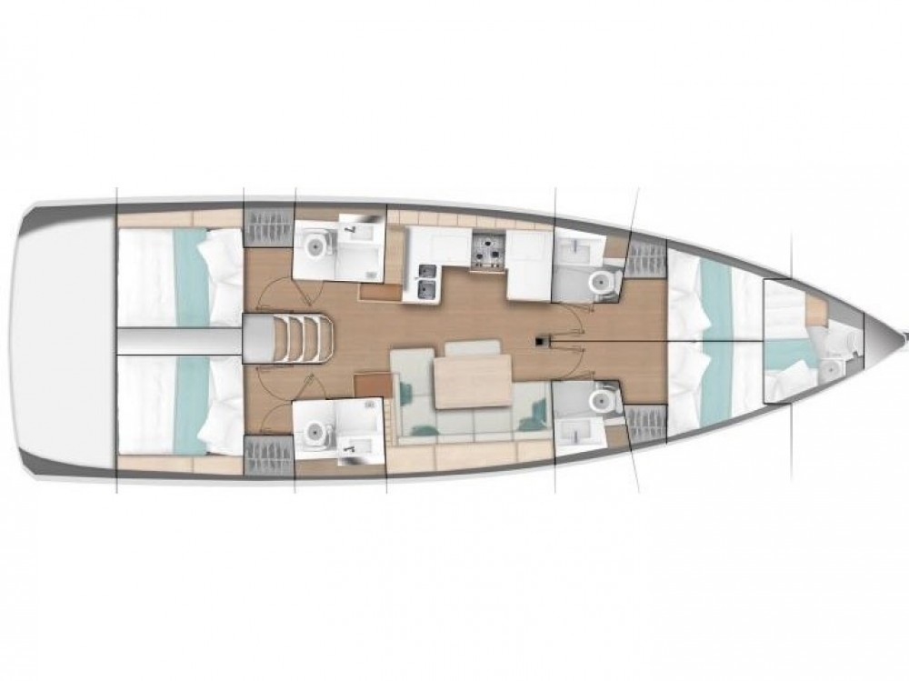 Boat rental Jeanneau Sun Odyssey 490 (4 cab/4 wc) in  on Samboat