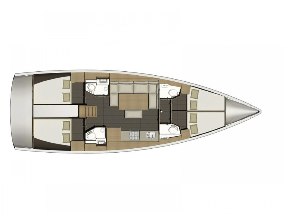 Rental yacht  - Dufour Dufour 460 Grand Large (4cab/4wc) on SamBoat