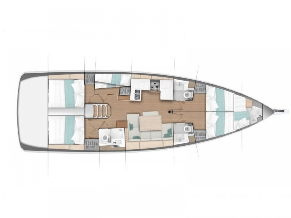Jeanneau Sun Odyssey 490 (5 cab/3 wc) between personal and professional Álimos
