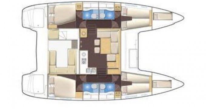 Boat rental Lefkada (Island) cheap Lagoon 400 S2