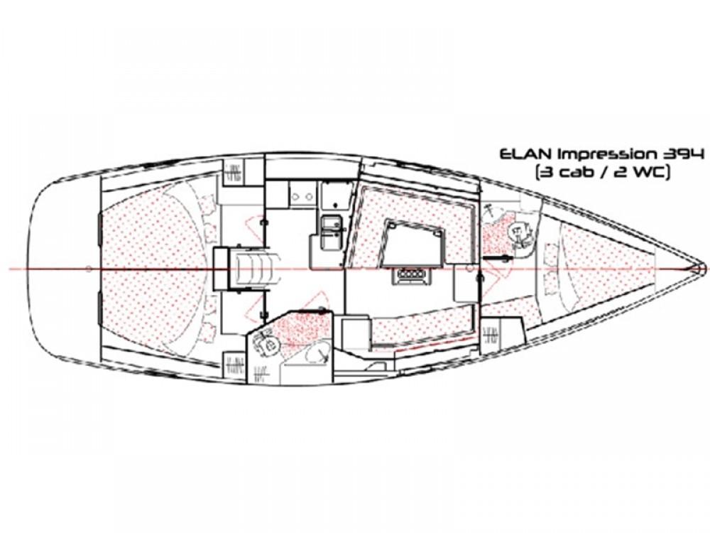 Rent a Elan Elan 394 impression Alimos Marina