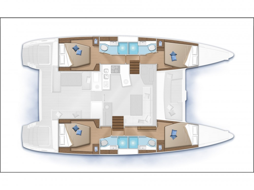 Boat rental Ajaccio cheap Lagoon 450F