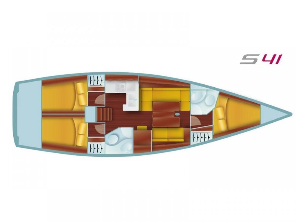 Boat rental Salona Salona 41 Performance in  on Samboat