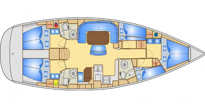 Sailboat for rent Bocca di Magra at the best price